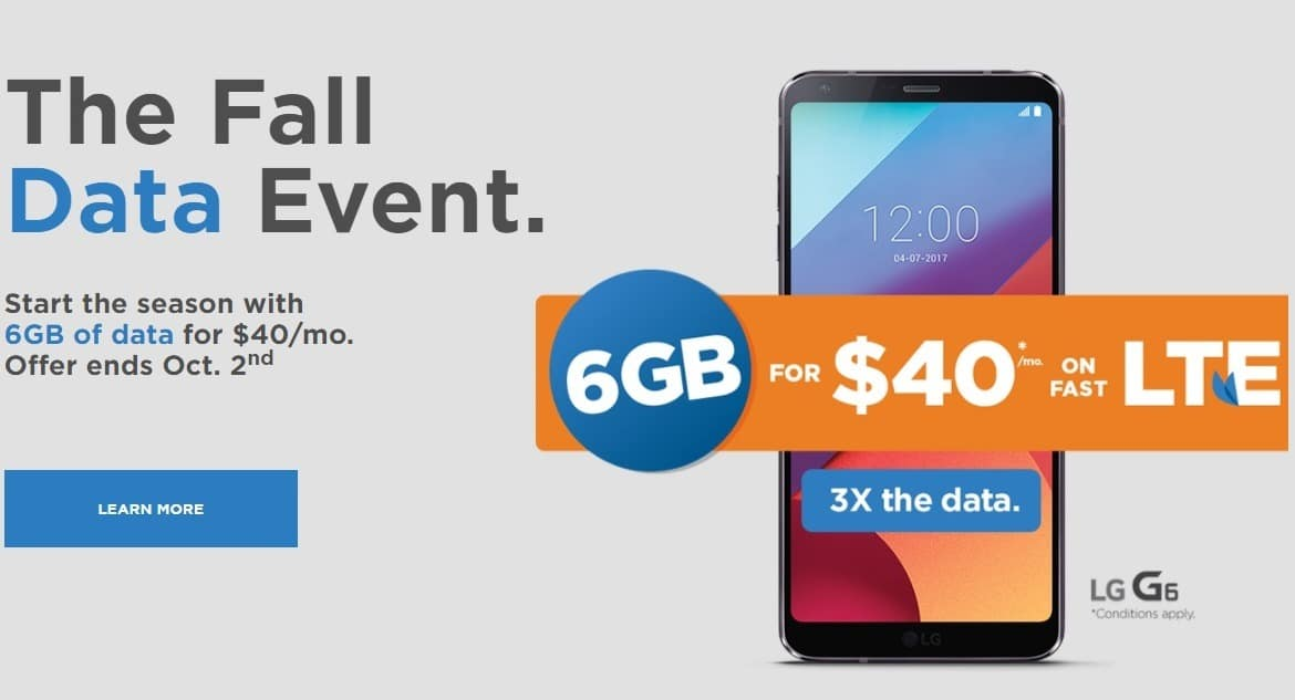 Freedom Mobile Triple Your Data Offer - Fall Data Event