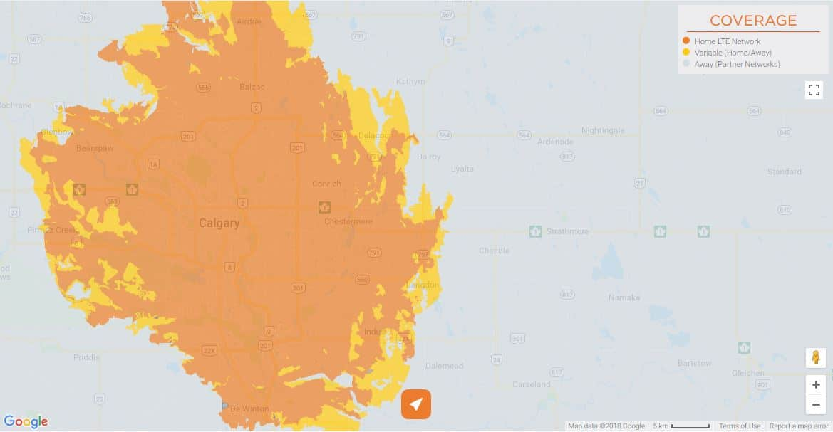 Freedom Mobile Coverage - Calgary