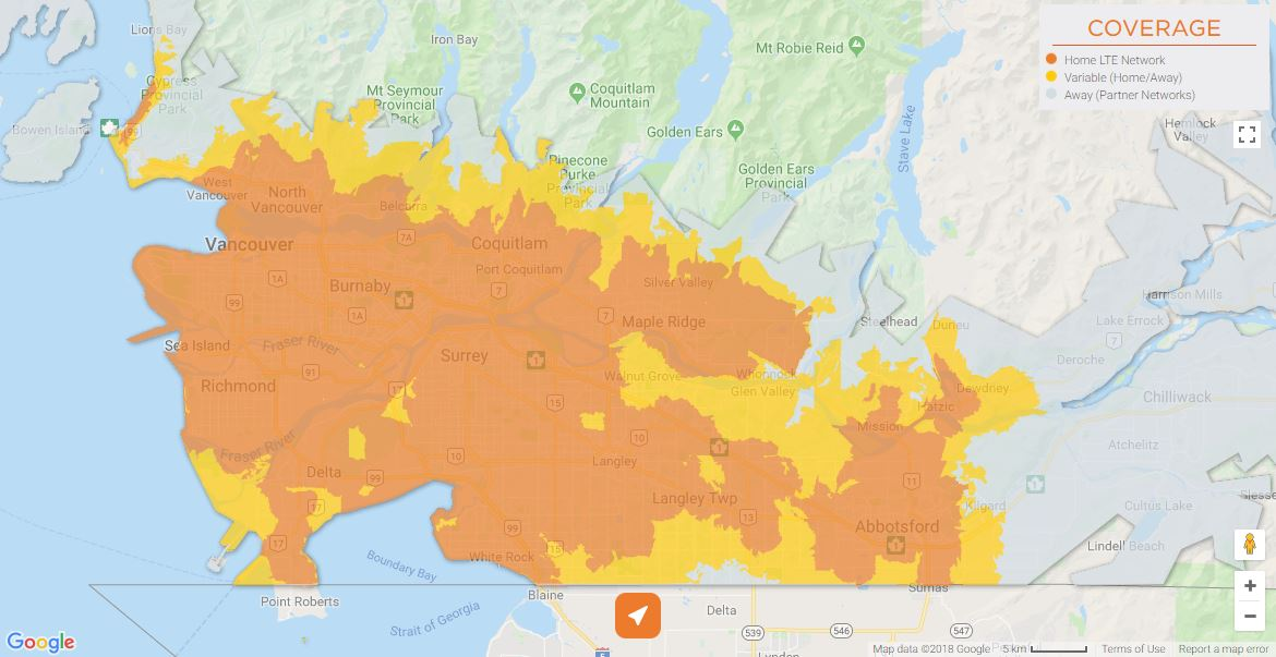 Freedom Mobile Coverage - Vancouver