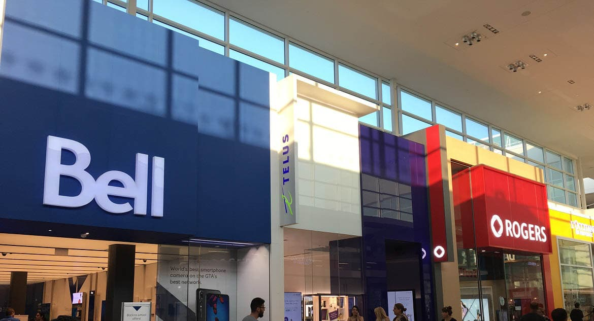 Bell, Telus & Rogers Store Yorkdale Mall