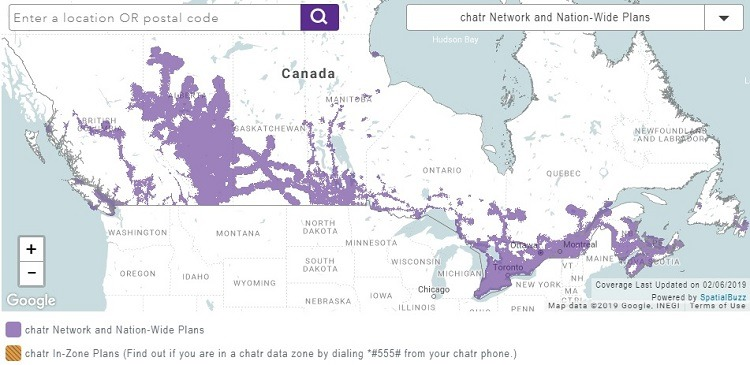 Chatr Mobile Provides National Coverage