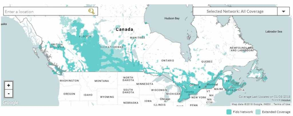 A look at Fido's coverage across Canada