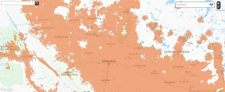 Public Mobile Coverage in Alberta