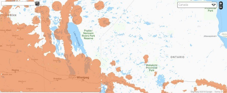 Public Mobile Coverage in Manitoba
