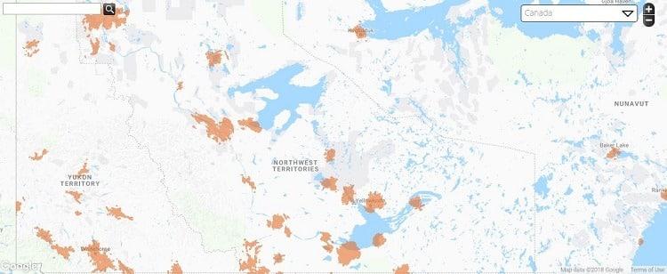 Public Mobile Coverage in Northwest Territories