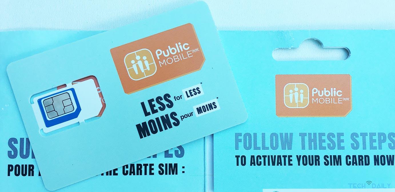 Public Mobile Less for Less Sim Card
