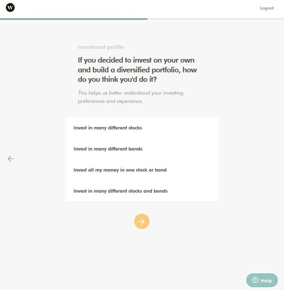 Wealthsimple Signup Step 4