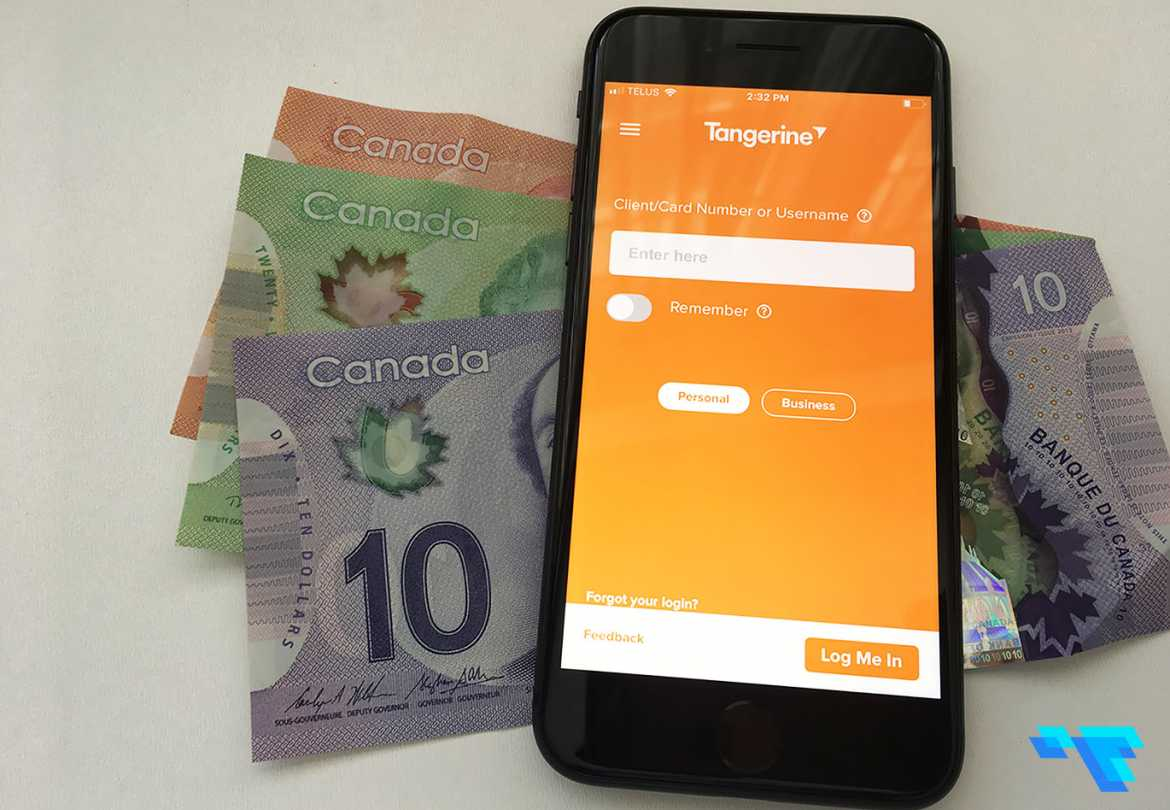 Tangerine Bank Mobile App