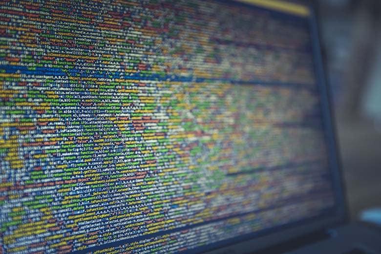 java coding on laptop