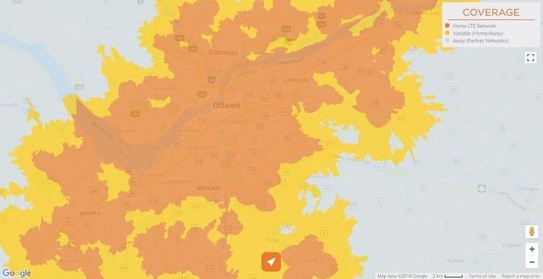 Freedom Mobile Coverage - Nepean, Kanata, Gatineau, Ottawa