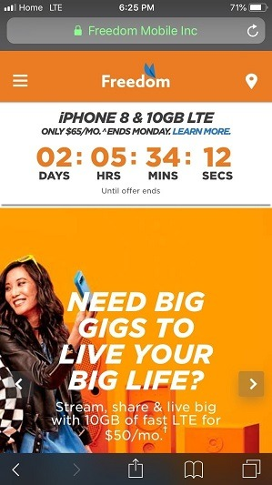 Freedom Mobile On LTE
