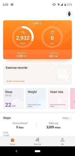 Huawei Watch GT App Home