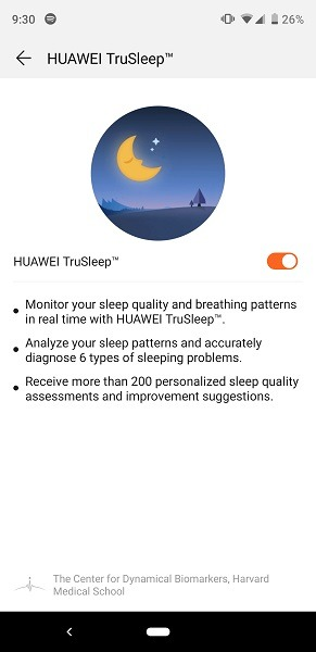 Huawei Watch GT App TruSleep Monitor