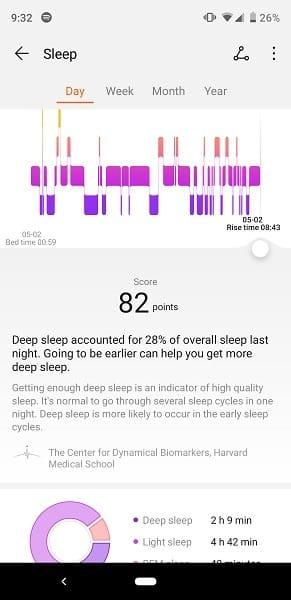 Huawei Watch GT App TruSleep Tracking