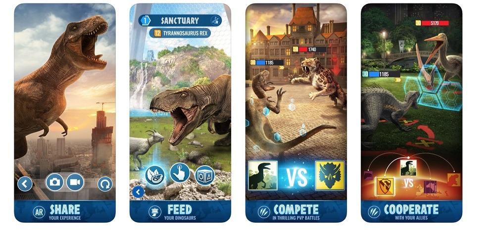 Jurassic World Alive app