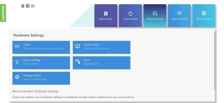 Lenovo IdeaPad S940 Windows 10 Lenovo Vantage
