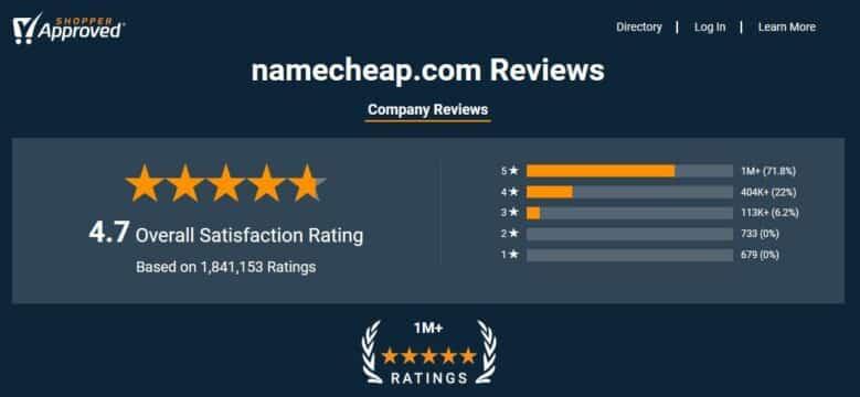 Namecheap Reviews