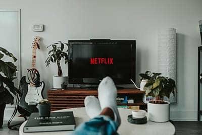 Netflix While Sitting on Sofa
