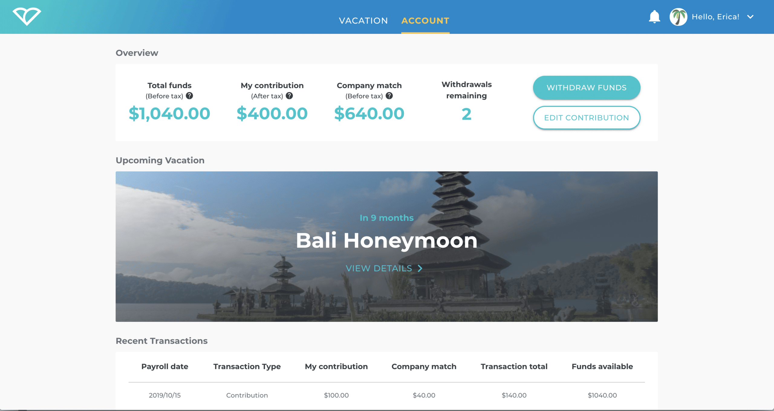 Vacation Fund
