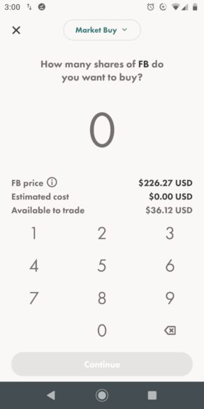 Wealthsimple Trade Stock Purchase