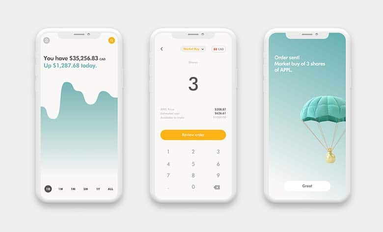 Wealthsimple Trade app on iPhone