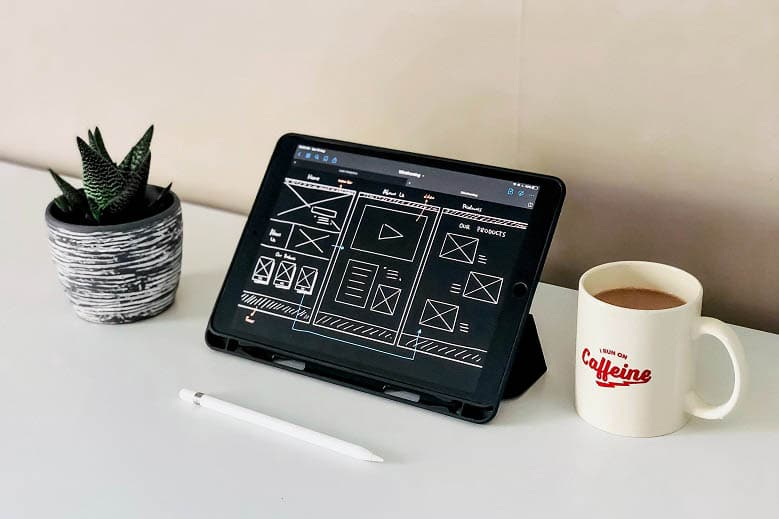 Website Wireframe Tablet